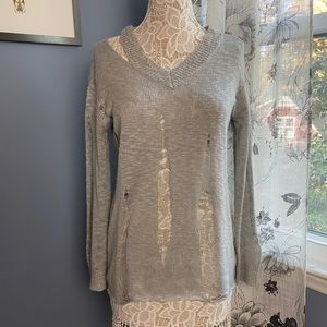 Glamorous Oversized Sweater In Distressed Knit
